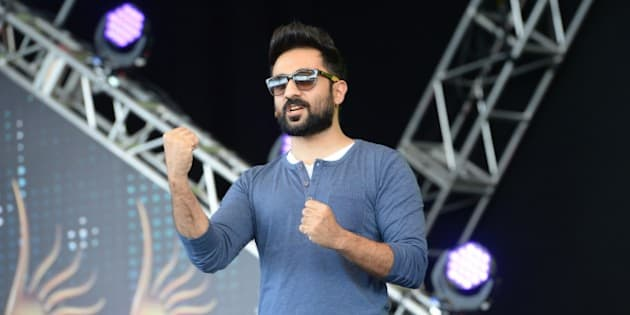 Bollywood actor Vir Das arrives for a rehearsal on stage at the Mid Florida Credit Union Amphitheater ahead of the IIFA Magic of the Movies on the third day of the 15th International Indian Film Academy (IIFA) Awards in Tampa, Florida, April 25, 2014. AFP PHOTO JEWEL SAMAD        (Photo credit should read JEWEL SAMAD/AFP/Getty Images)