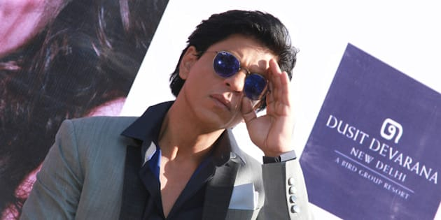 NEW DELHI, INDIA - DECEMBER 16: Bollywood actor Shah Rukh Khan during the promotion of his upcoming movie Dilwale at Dusit Devarana on December 16, 2015 in New Delhi, India. (Photo by Waseem Gashroo/Hindustan Times via Getty Images)
