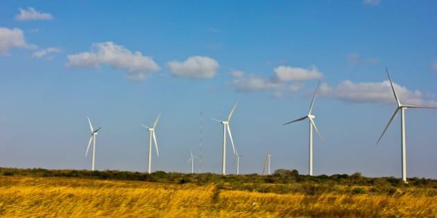 Proyecto eólico en la provincia de Coclé, República de Panamá.