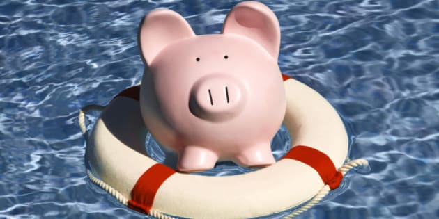 An analogy for safekeeping, preserving or rescuing one's money, savings, earnings, or other financial assets.