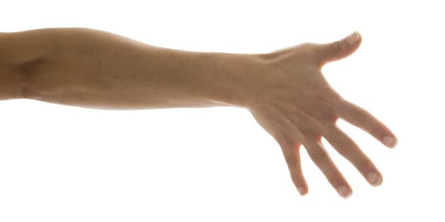 Close up of womans hands with fingers outstretched
