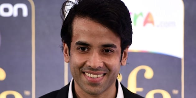Bollywood actor Tusshar Kapoor poses on the green carpet at the Tampa Convention Center ahead of IIFA Rocks on the second day of the 15th International Indian Film Academy (IIFA) Awards in Tampa, Florida, April 24, 2014. AFP PHOTO JEWEL SAMAD        (Photo credit should read JEWEL SAMAD/AFP/Getty Images)