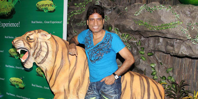 MUMBAI, INDIA - JUNE 17: Raju Srivastava during the launch of the restaurant 'Rainforest Restaurant and Bar' at Andheri in Mumbai on June 17,2011. (Photo by Yogen Shah/India Today Group/Getty Images)