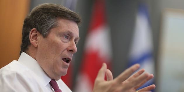 TORONTO, ON- DECEMBER 18:  A sit-down interview with Mayor John Tory in his office about what we can expect in 2016.    in Toronto. December 18, 2015.  Steve Russell/Toronto Star        (Steve Russell/Toronto Star via Getty Images)