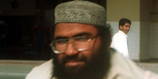 Maulana Masood Azhar, Muslim cleric and leader of the militant group fighting in Indian-held Kashmir against Indian forces arrives at Karachi airport  Saturday, Jan. 22, 2000. Azhar and two other persons were realeased by Indian authorities on Dec. 31, 1999 in exchange of 155 passengers and crew members from the hijacked aircraft at Kandahar airport in Afghanistan. The purpose of his visit is not given.(AP Photo/Athar Hussain)
