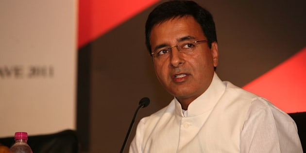 NEW DELHI, INDIA - NOVEMBER 04: Haryana Industries Minister Randeep Singh Surjewala speaking at the India Today State of the States Conclave in New Delhi on Friday 04 November, 2011. (Photo by Ramesh Sharma/India Today Group/Getty Images)