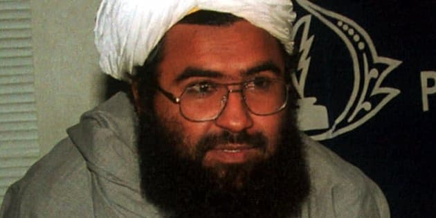 Religious leader of the Harkat ul-Mujahideen Maulana Masood Azhar, who has been released by Indian government on demand of the Indian plane hijackers, December 1999, shown in this March 2, 2000 photo. Pakistan's army rulers have silenced militant Islamic groups headquartered here ahead of next week's visit by president Clinton. (AP Photo/B.K. Bangash)