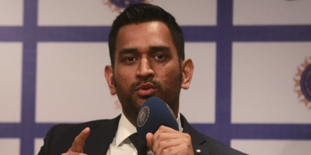 India's captain Mahendra Singh Dhoni speaks during a press conference ahead of the team's departure for the limited-overs cricket tour of Australia, in Mumbai, India, Tuesday, Jan.5, 2016. India is scheduled to play five one-day internationals and three Twenty20 games during the series that begins Jan. 12. (AP Photo/Rafiq Maqbool)