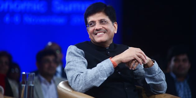NEW DELHI, INDIA - NOVEMBER 6: Piyush Goyal, minister of state for power, coal, new and renewable energy, at the World Economic Forum, on November 6, 2014 in New Delhi, India. (Photo by Ramesh Pathania/MINT)