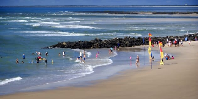Elliott Heads, a popular tourist destination: coastal village with a small ocean beach and an expansive sandy river delta for relaxation and sunbathing. near Bundaberg, Queensland, Australia. (Photo by Auscape/UIG via Getty Images)
