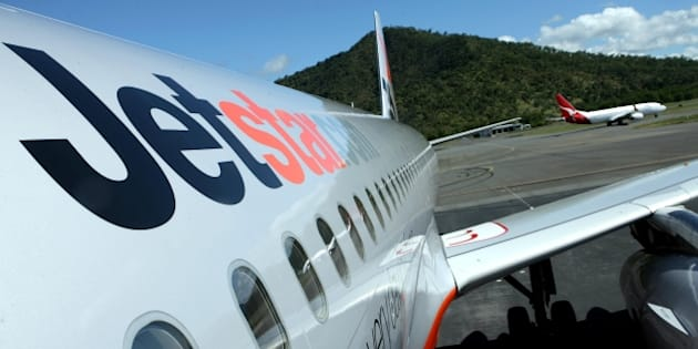 (AUSTRALIA & NEW ZEALAND OUT) A Jetstar jet stands on the tarmac, 12 July 2007. AFR Picture by JIM RICE (Photo by Fairfax Media via Getty Images)