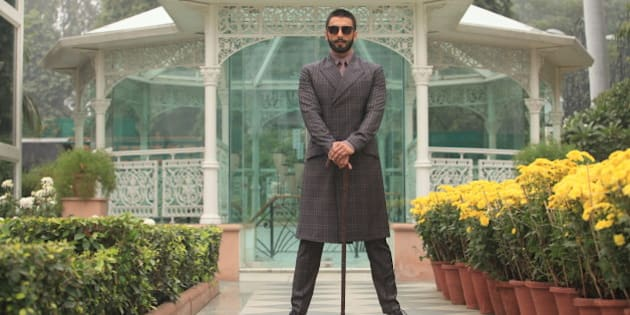 NEW DELHI, INDIA - DECEMBER 12: (Editor's Note: This is an exclusive shoot of Hindustan Times) Bollywood actor Ranveer Singh poses for a profile shoot during an interview for the promotion of his upcoming movie Bajirao Mastani on December 15, 2015 in New Delhi, India. (Photo by Manoj Verma/Hindustan Times via Getty Images)