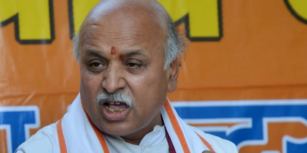 NEW DELHI,INDIA MARCH 21: VHP Leader Praveen Togadia during a Press Conference in New Delhi.(Photo by K.Asif/India Today Group/Getty Images)