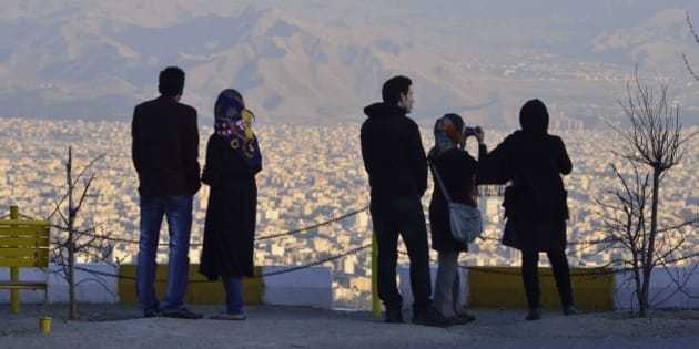 Iranian young in the roof of Tehran