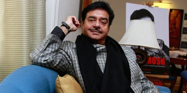 NEW DELHI, INDIA - JANUARY 6: (Editor's Note: This is an exclusive shoot of Hindustan Times) Bollywood actor-turned-politician Shatrughan Sinha during an exclusive interview with HTCity-Hindustan Times at Hotel The Claridges on January 6, 2016 in New Delhi, India. Shatrughan Sinha was in the Capital on Wednesday to release his biography - Anything But Khamosh, written by Bharathi S. Pradhan. In the book, Sinha, a BJP MP, has given a detailed account of his strenuous relationship with Amitabh Bachchan, his 'lady friends' and even hit out at his party members for not choosing him to lead the party in the recently-concluded Bihar elections. (Photo by Waseem Gashroo/Hindustan Times via Getty Images)
