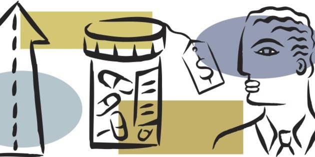 Illustration of modern expensive medicine