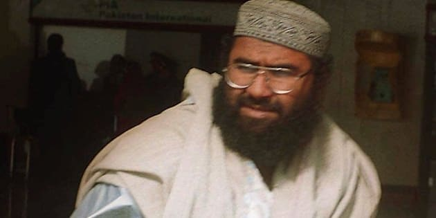 Maulana Masood Azhar, a Pakistani religious leader of a Islamic militant group fighting against Indian forces in the ongoing conflict along the Indian-held Kashmir border, arrives at Karachi airport on Saturday, Jan. 22, 2000. Azhar and two other Islamic separatists were released by Indian authorities on Dec 31, 1999 after hijackers demanded their released in exchange for 150 passengers of an Indian Airlines plane. (AP Photo/Athar Hussain)