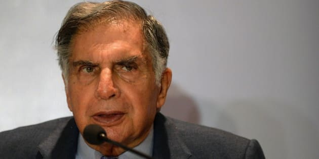 Ratan Tata, Chairman of India's Tata Trust, speaks during a news conference in Mumbai on September 10, 2015. Bollywood actor Amitabh Bachchan and Tata announced their association with TB-Free India campaign. AFP PHOTO/ PUNIT PARANJPE        (Photo credit should read PUNIT PARANJPE/AFP/Getty Images)