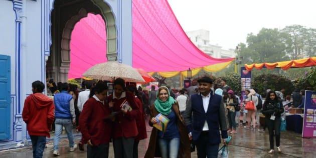 JAIPUR, INDIAJanuary 22-  Jaipur Literature Festival 2015 in Jaipur.(Photo by Purushottam Diwakar/India Today Group/Getty Images)