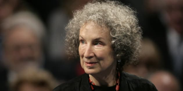 Canadian writer Margaret Atwood arrives for the 2008 Prince of Asturias award ceremony in Oviedo, northern Spain, Friday, Oct. 24, 2008. Atwood won the prize for Letters.(AP Photo/Daniel Ochoa de Olza)