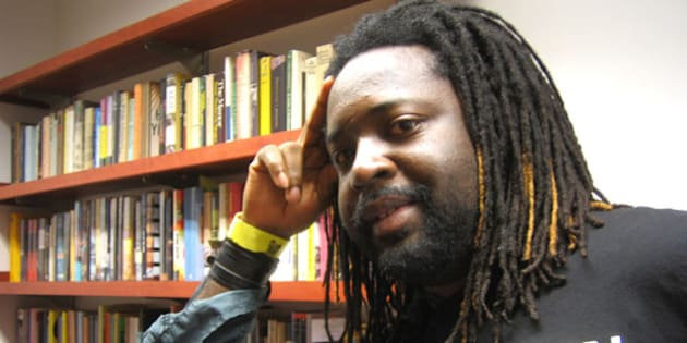 Marlon James in his office at Macalester College, St. Paul, Minnesota; 25 September, 2007