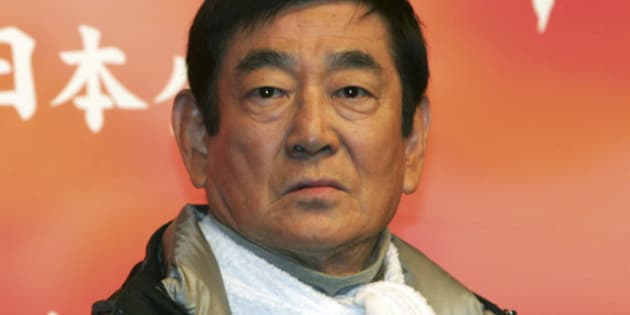 """FILE - In this Tuesday, Feb. 22, 2005 file photo, Ken Takakura, the main actor in his latest film """"Qian Li Zou Dan Qi,"""" which means, """"riding alone for a  thousand li """"(500 kilometers; 300 miles), during a press promotion in Tokyo. Acclaimed Japanese film star Takakura, known for many stoic heroes he played on silver screen, has died of lymphoma on Nov. 10, 2014. He was 83. (AP Photo/Koji Sasahara, File)"""