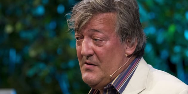 HAY-ON-WYE, WALES - MAY 23:  Comedian Stephen Fry reads extracts from his autobiography More Fool Me at the Hay Festival of Literature and Arts on May 23, 2015 in Hay-on-Wye, Wales.  (Photo by Matthew Horwood/Getty Images)