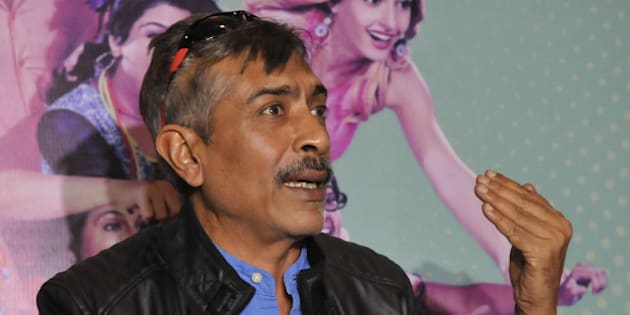 BHOPAL, INDIA - DECEMBER 28: Bollywood  producer Prakash Jha addressing a press conference for the promotion of his upcoming film Crazy Kukkad Family on December 28, 2014 in Bhopal, India. (Photo by Mujeeb Faruqui/Hindustan Times via Getty Images)