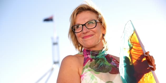 CANBERRA, AUSTRALIA - JANUARY 25:  2015 Australian of the Year Rosie Batty poses during the 2015 Australian of the Year Awards at Parliament House on January 25, 2015 in Canberra, Australia.  (Photo by Stefan Postles/Getty Images)
