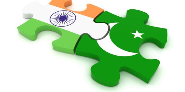 Pakistan India Puzzle Concept