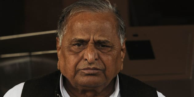 NEW DELHI, INDIA  DECEMBER 03: Mulayam Singh Yadav at the Parliament during the winter session in New Delhi.(Photo by Yasbant Negi /India Today Group/Getty Images)
