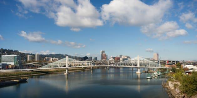 The newest bridge across Portland's famous riverfront