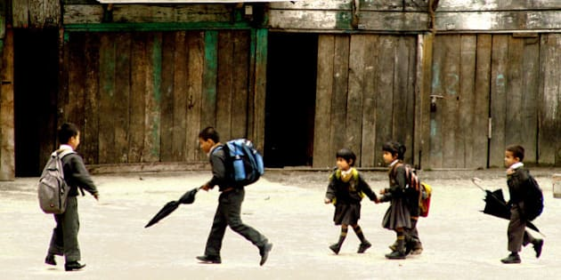 kids coming from the school!