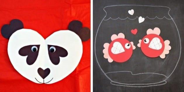 Valentine S Day Crafts 10 Ways To Make Animals With Hearts