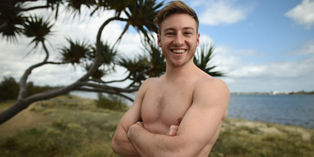 GOLD COAST, AUSTRALIA - OCTOBER 30:  Matthew Mitcham of Australia poses for a portrait during the FINA Diving Grand Prix on October 30, 2015 on the Gold Coast, Australia.  (Photo by Matt Roberts/Getty Images)