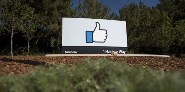The 'Like' logo is displayed at Facebook Inc. headquarters in Menlo Park, California, U.S., on Thursday, Oct. 22, 2015. Facebook is expected to release earnings figures on November 4. Photographer: David Paul Morris/Bloomberg via Getty Images