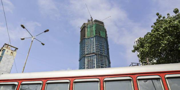 The Palais Royale, a luxury residential building developed by Shree Ram Urban Infra Ltd, stands under construction in the Lower Parel area in Mumbai, India, on Sunday, Aug. 4, 2013. India's purchasing managers index (PMI) services figures for July are scheduled for release on Aug. 5. Photographer: Dhiraj Singh/Bloomberg via Getty Images