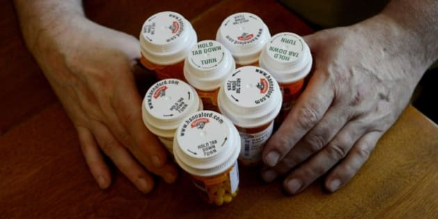 Some of Roger Kidder's medications that he struggles to purchase since losing Medicaid. Three for anti-depressants and two to control high cholesterol among others. Thursday, May 30, 2013.  (Photo by Shawn Patrick Ouellette/Portland Press Herald via Getty Images)