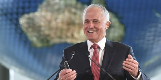 Australian Prime Minister Malcolm Turnbull delivers a speech at the National Museum of Emerging Science and Innovation Friday, Dec. 18, 2015 in Tokyo. Turnbull is on a one-day visit to Tokyo to have talks with Japanese Prime Minister Shintaro Abe. (Atsushi Tomura/Pool Photo via AP)