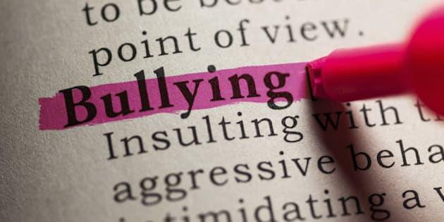 Fake Dictionary, definition of the word bullying.