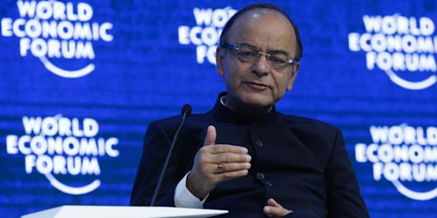 Arun Jaitley, India's finance minister, speaks on the panel of the Global Economic Output session at the World Economic Forum (WEF) in Davos, Switzerland, on Saturday, Jan. 23, 2016. World leaders, influential executives, bankers and policy makers attend the 46th annual meeting of the World Economic Forum in Davos from Jan. 20 - 23. Photographer: Matthew Lloyd/Bloomberg via Getty Images