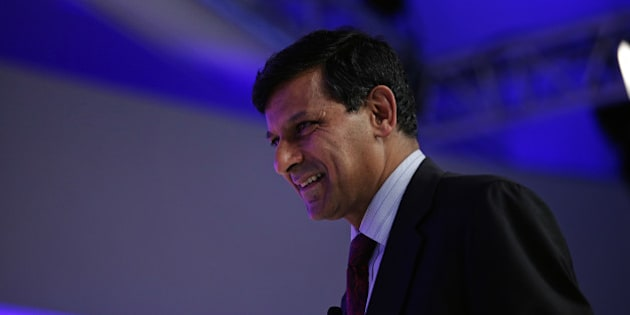 Raghuram Rajan, governor of the Reserve Bank of India (RBI), arrives for a panel session at the World Economic Forum (WEF) in Davos, Switzerland, on Wednesday, Jan. 20, 2016. World leaders, influential executives, bankers and policy makers attend the 46th annual meeting of the World Economic Forum in Davos from Jan. 20 - 23. Photographer: Matthew Lloyd/Bloomberg via Getty Images