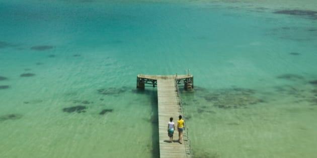 Vanuatu, Efate Island Port Vila, Small Pier on Vila Bay