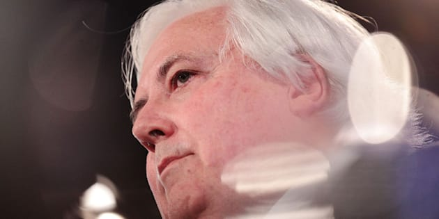 CANBERRA, AUSTRALIA - JULY 07:  Clive Palmer speaks at National Press Club on July 7, 2014 in Canberra, Australia. Today is the first day of sitting for the new senate. Twelve Senators were sworn in this morning.  (Photo by Stefan Postles/Getty Images)
