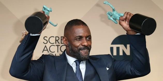 LOS ANGELES, CA - JANUARY 30: Actor Idris Elba, winner of Outstanding Performance by a Male Actor in a Supporting Role for 'Beasts of No Nation,' and Outstanding Performance by a Male Actor in a Television Movie or Miniseries for 'Luther,' poses in the press room at the 22nd Annual Screen Actors Guild Awards at The Shrine Auditorium on January 30, 2016 in Los Angeles, California. (Photo by Dan MacMedan/WireImage)