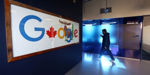 An employee walks in a hallway at Google Canada's engineering headquarters in Waterloo, Ontario, Canada, on Friday, Jan. 22, 2016. The 185,000-square-foot facility currently houses over 350 employees from Google's Canadian development team. Photographer: Cole Burston/Bloomberg via Getty Images