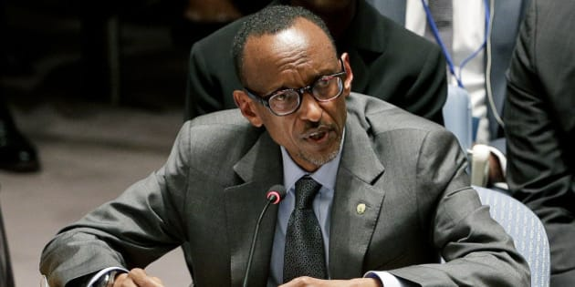 Rwanda President Paul Kagame speaks during a United Nations Security Council meeting, Wednesday, Sept. 24, 2014, at U.N. headquarters. Members of the Security Council met during which members were expected to adopt a resolution that would require all countries to prevent the recruitment and transport of would-be foreign fighters preparing to join terrorist groups such as the Islamic State group. (AP Photo/Julie Jacobson)