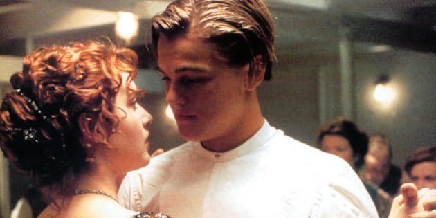 Kate Winslet and Leonardo DiCaprio dancing in a scene from the film 'Titanic', 1997. (Photo by 20th Century-Fox/Getty Images)
