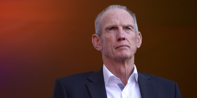 SYDNEY, AUSTRALIA - OCTOBER 01:  Wayne Bennett, coach of the Broncos looks on during the launch of NRL Nation at Darling Harbour on October 1, 2015 in Sydney, Australia.  (Photo by Brett Hemmings/Getty Images)