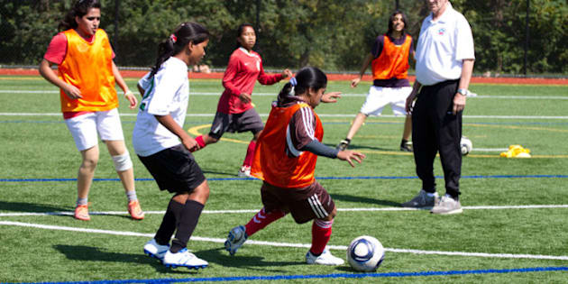 This September 2012, 21 young women from India and Pakistan will meet in the U.S. for ten days for a soccer exchange program. Together they will take part in intensive soccer clinics, conflict resolution workshops and disability sports sessions. These photos are from a training session in D.C. September 13, 2012.
